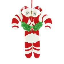 Candycanes Personalised Christmas Ornament – Family of 2 Family of 2