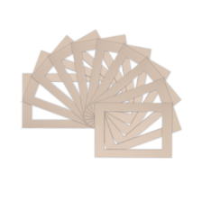 Ivory Mount Picture Mounts